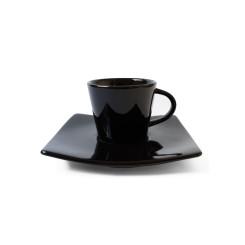 XICARA CAFE ORIENTAL C/ PIRES 90 ML GR PRETA